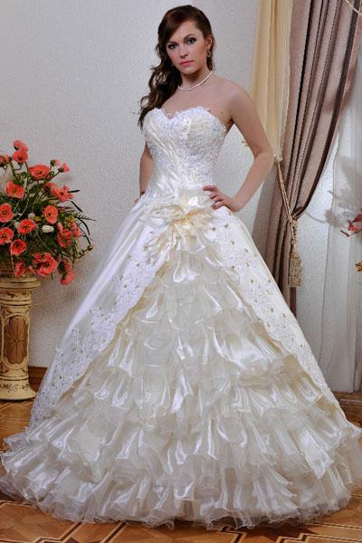 Картинки очень пышные свадебные платья