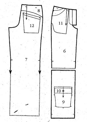 выкройка штанов