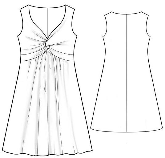Описание: b Выкройка платья-футляр для молодых стройных девушек выкройка летнего платья-сарафана из тонкого